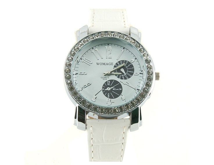 White Fashionable Portable Quartz Wrist Watch Comfortable Wearing for Women $8.03 #eozy