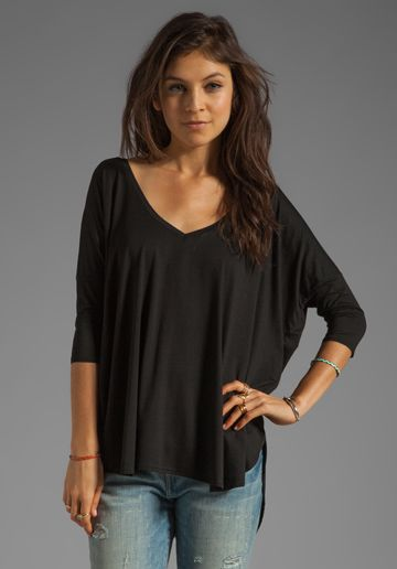 This is the ONLY black top you will need!  It will last forever and it is super comfy!