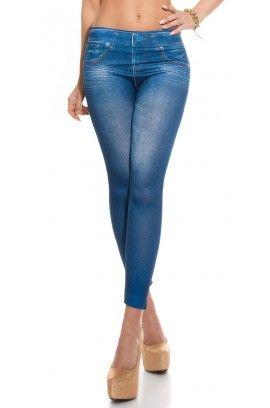Κολάν - Sexy Leggings in Jeans print HJ1016
