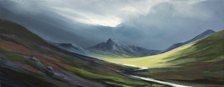 Glen Rosa  by Scottish contemporary landscape painter J Mackintosh