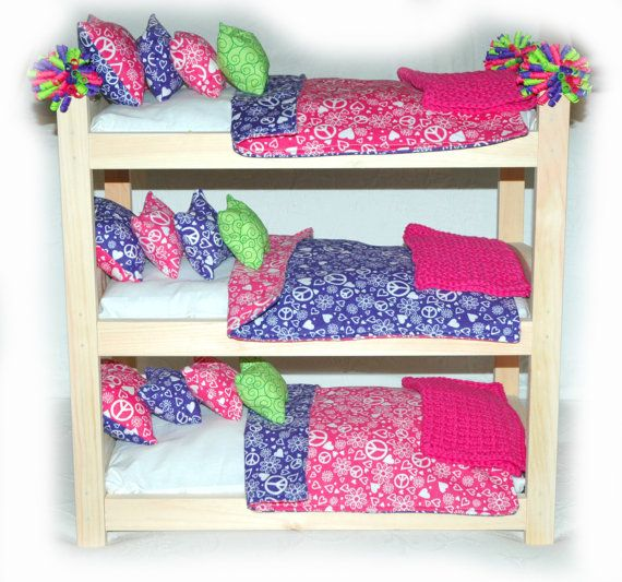 Triple Or Double Doll Bunk Bed Customize Peace American Made Girl