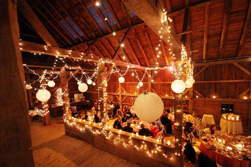 where to find a barn like this...: Rustic Barns Wedding, Wedding Receptions, Paper Lanterns, White Lights, Wedding Decor, Barns Receptions, Christmas Lights, String Lights, Rustic Wedding
