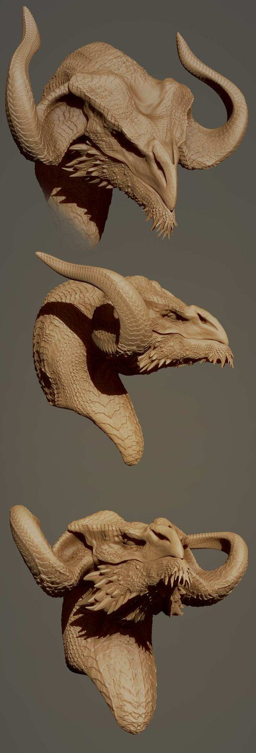 how to model your dragon bust XD by *nebezial on deviantART