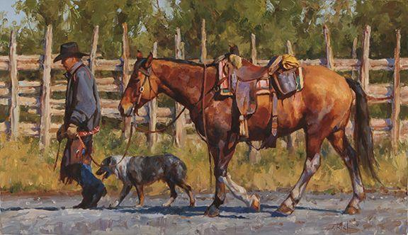 """""""Dog Tired"""" by Jason Rich (Cowboy Artist)"""