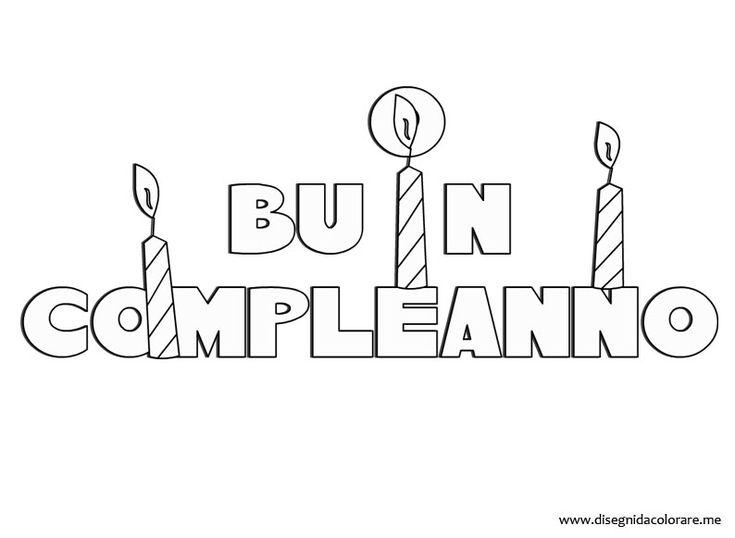 """scritta """" Buon Compleanno """" con candele!"""