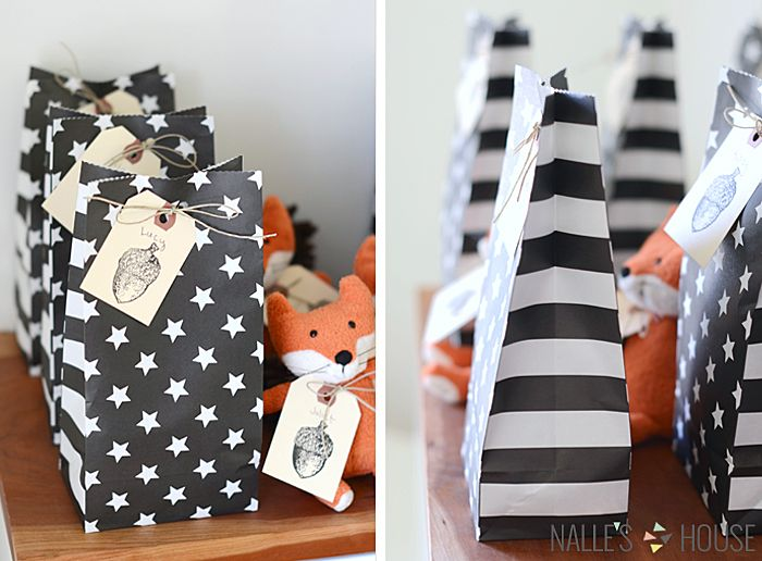 A FALL FOX BIRTHDAY PARTY-Kids loot bags