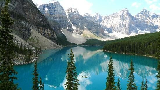 22 Spectacular Places Around the Globe (pictured Moraine Lake in Alberta, CA)