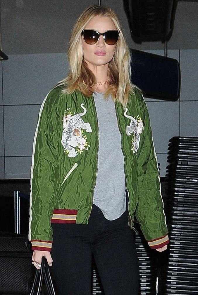 Rosie Huntington-Whitely spotted in the Chloe Bomber from SS16 ...