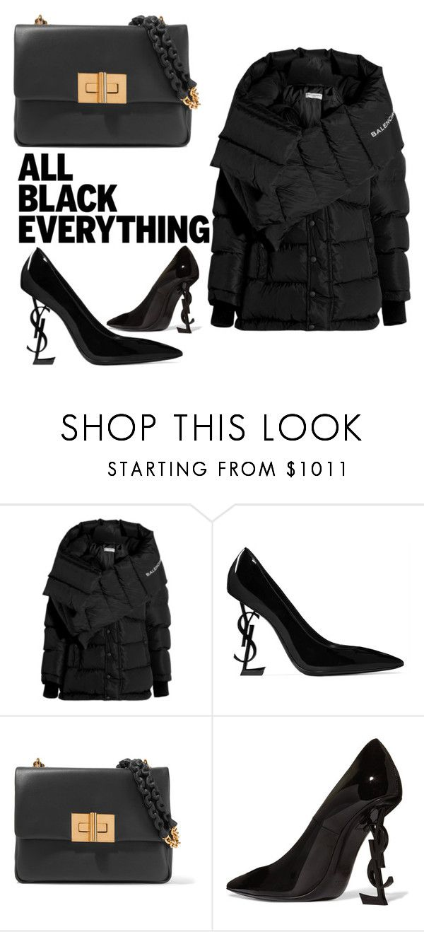 """ALL BLACK EVERYTHING"" by wardrobementor on Polyvore featuring Balenciaga, Yves Saint Laurent and Tom Ford"