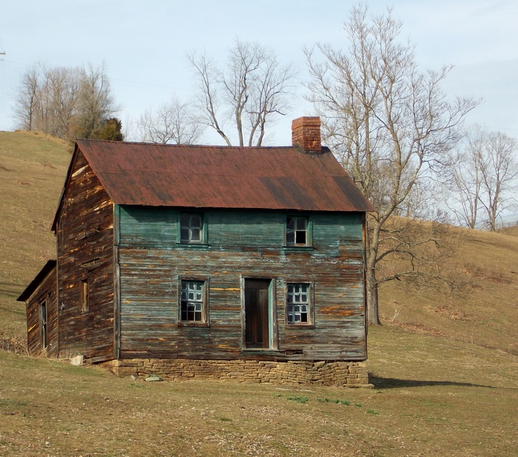Old Forgotten Cabin In Mount Morris, Pennsylvania In