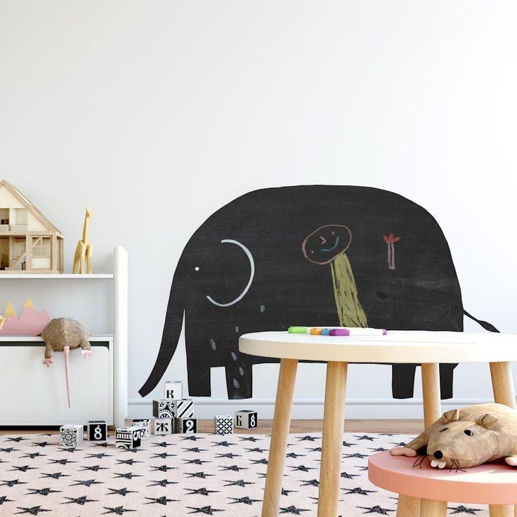 Vinilo infantil de pizarra elefante project party kids for Vinilo de pizarra