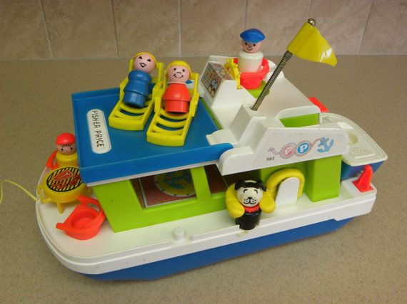 Vintage Fisher Price Play Family Houseboat by JamaicaInn on Etsy, $80.00