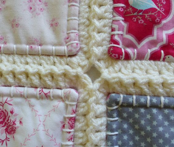 Fusion quilt patchwork met gehaakte rand Free door FlowergirlMila