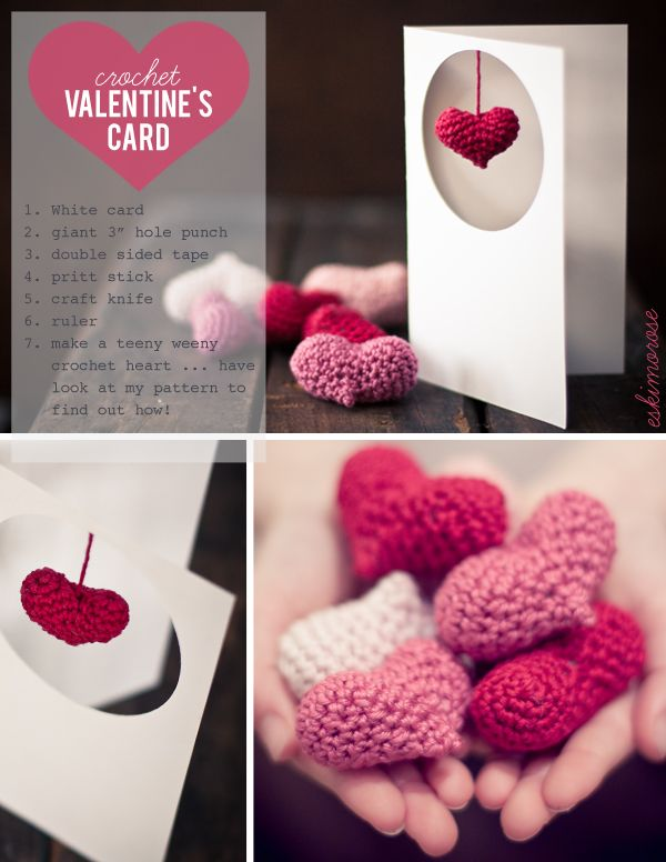 I love Kawaii: Crochet Valentine's Card