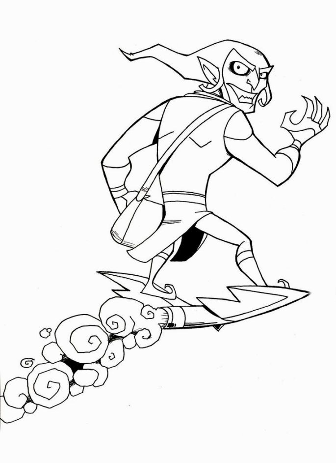 spiderman hobgoblin coloring pages | Green Goblin Coloring Page | Coloring pages, Goblin ...