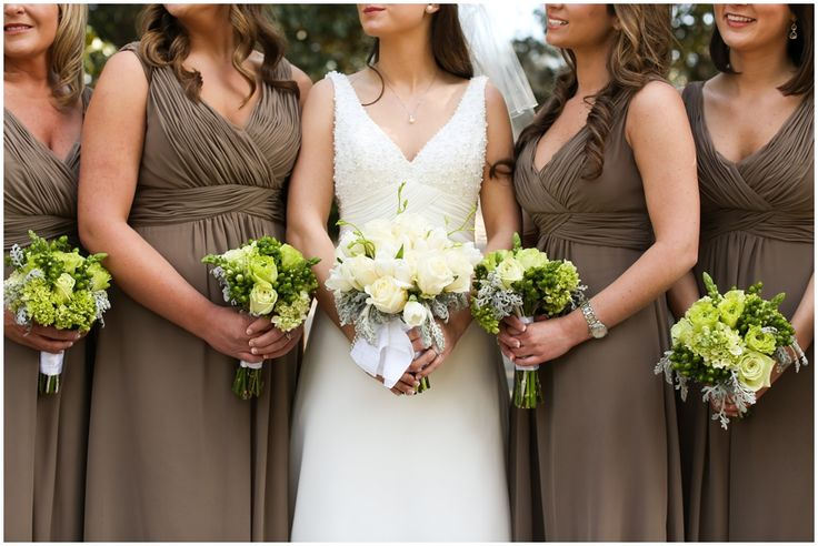 Mocha Bridesmaid Dresses Plantation Wedding Photographed by Anna K. Photography