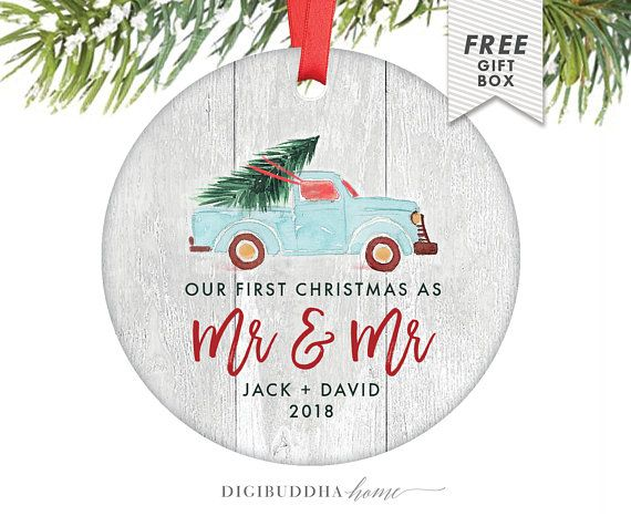 First Christmas As Mr And Mr Ornament Personalized 352 Funny Christmas Ornaments Newlywed Christmas Ornament Baby S 1st Christmas Ornament