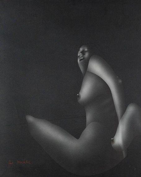 Paul Wunderlich - Weiblicher Akt, 1972, Acrylic on...