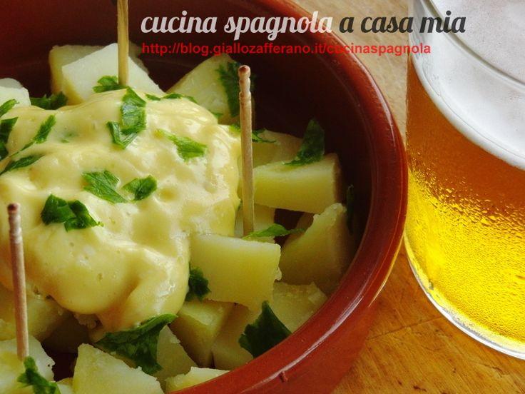 PATATE CON SALSA ALIOLI | Cucina Spagnola: http://blog.giallozafferano.it/cucinaspagnola/patate-con-salsa-alioli/
