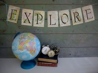 explore banner made from maps