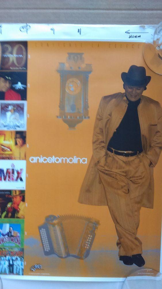 """ANICETO MOLINA, promo poster, """"Consigase la Coleccion"""", cumbia superstar"""