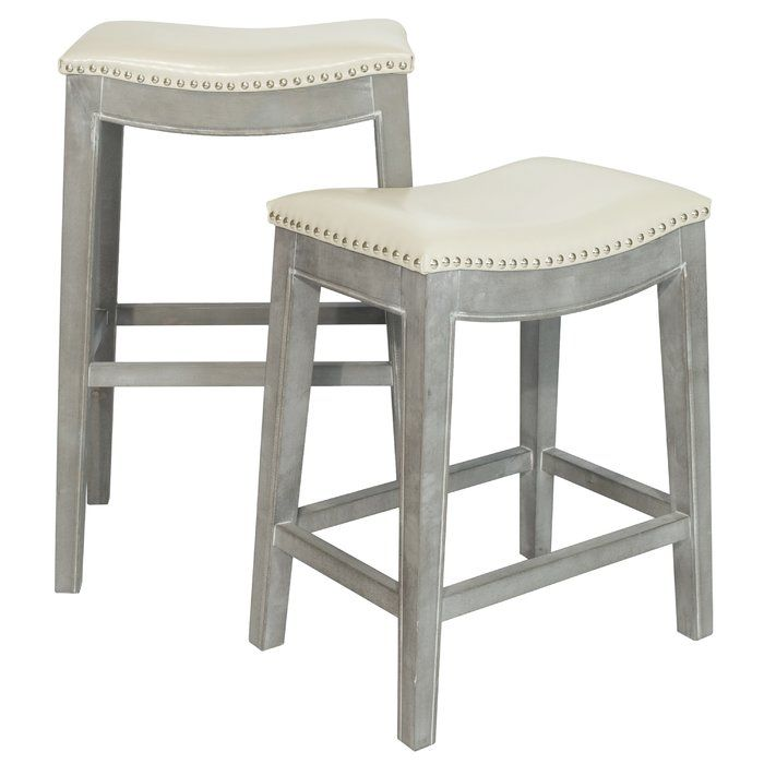 Prendergast Bar Counter Stool Leather Counter Stools Backless