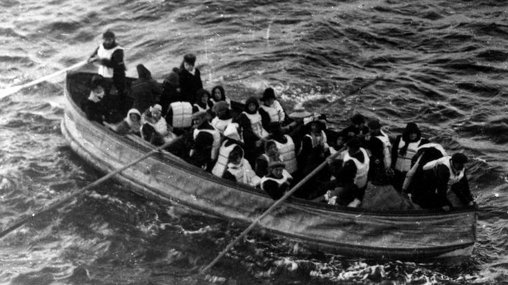 Titanic Lifeboat Unknown 1912 National Archives and Records Administration, USA A photograph of the last lifeboat successfully launched from the Titanic. The image was captured by a passenger of the Carpathia, the ship that received the Titanic's distress signal and came to rescue the survivors.
