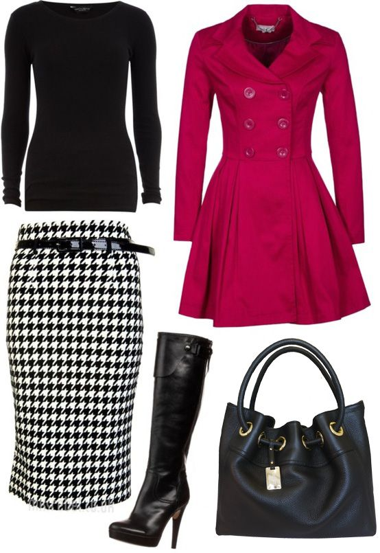 My almost favorite winter  but I love it! I might die when my hounds tooth skirt wears out! lol