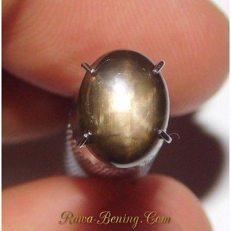 Batu Mulia Natural Black Star Sapphire 1.86 Carat