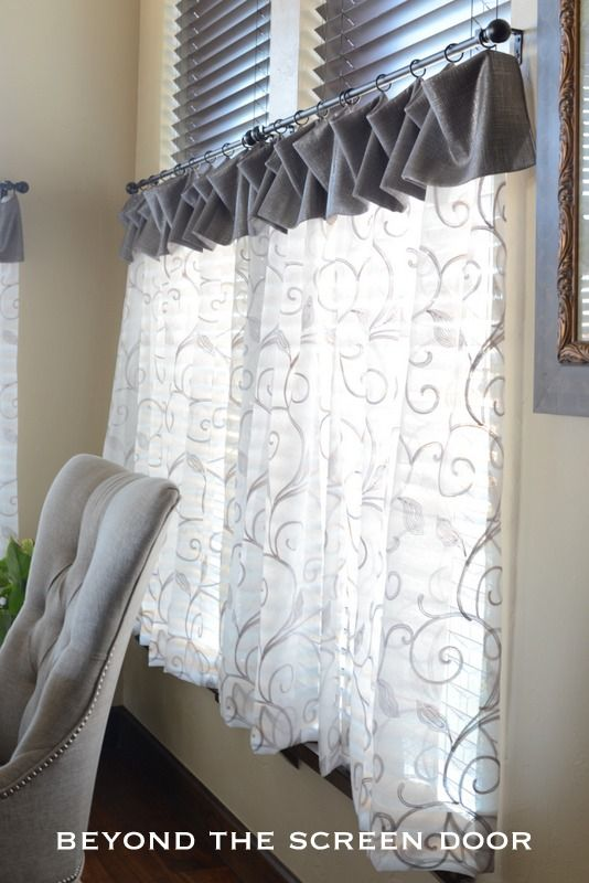 Cafe Curtains For A Breakfast Room with Six Windows   Beyond the Screen Door