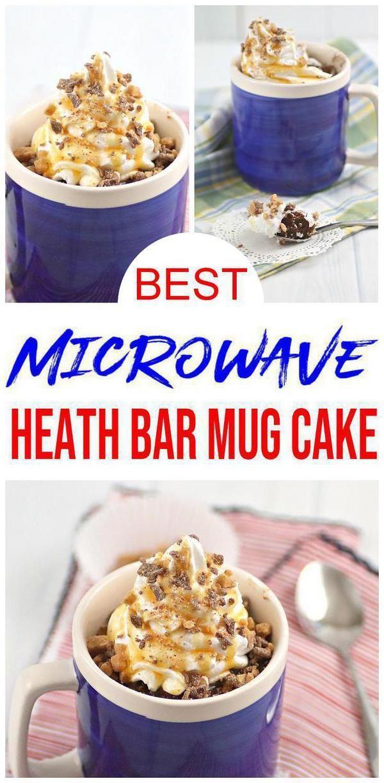 Microwave Mug Cake Recipe - Easy Microwave Chocolate Heath ...