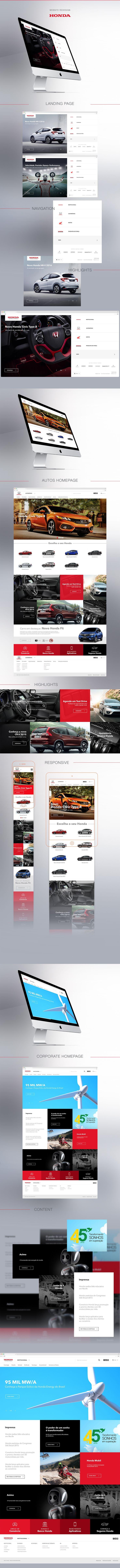 Honda - Website Redesign (Brazil) on Behance