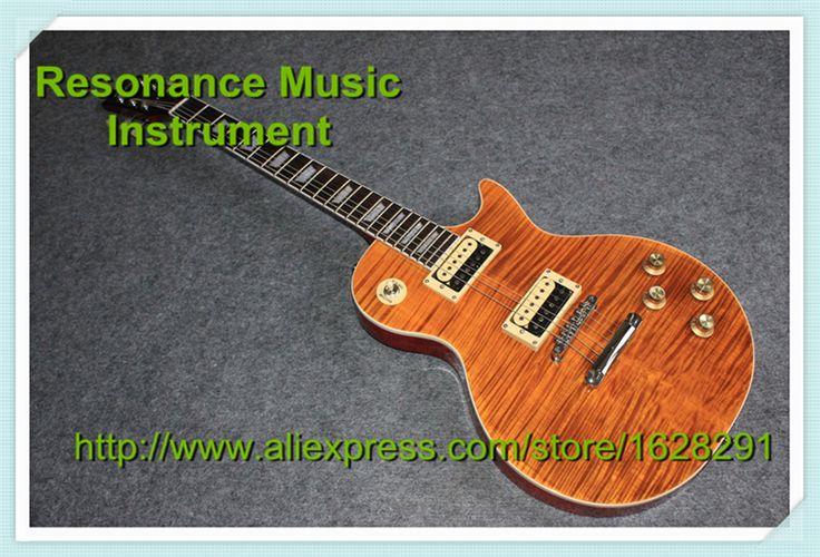 Custom Shop Top Quality Standard Slash Appetite Guitar Dark Yellow Flamed Finish China Slash Guitar Left Handed Available