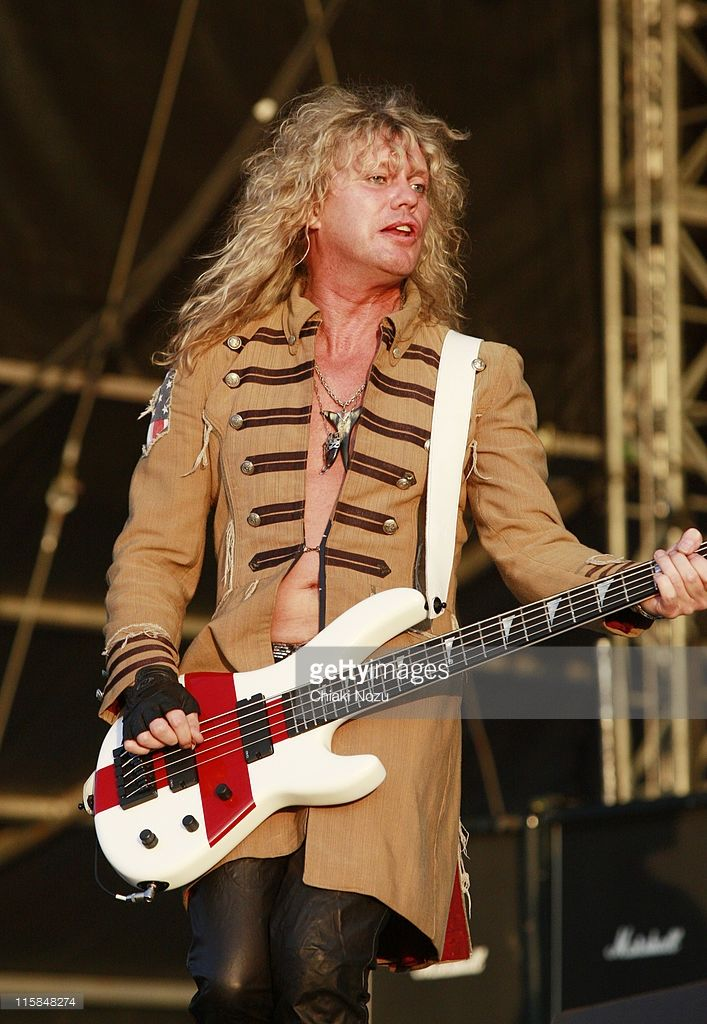 Rick Savage of Def Leppard performs at day three of the Download Festival at…