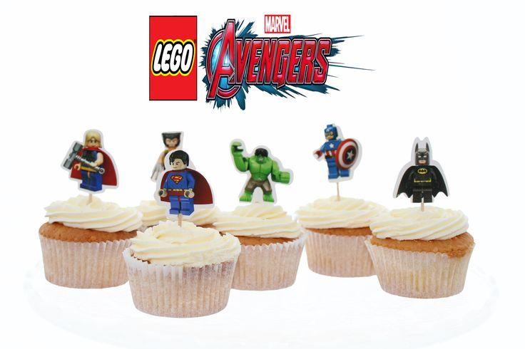 Avengers lego cupcake toppers bestellen? En wil je de stoerste verjaardagsfeest ooit organiseren? De Avengers lego cupcake toppers zijn online verkrijgbaar (bekijk ook de Avengers cupcake toppers, Avengers figuren) in onze shop. De cupcakes worden verkocht per 12 stuks met de superhelden #Hulk, #Thor, #Wolverine, #Captain America, #Superman en #Batman.  #lego #josebakery