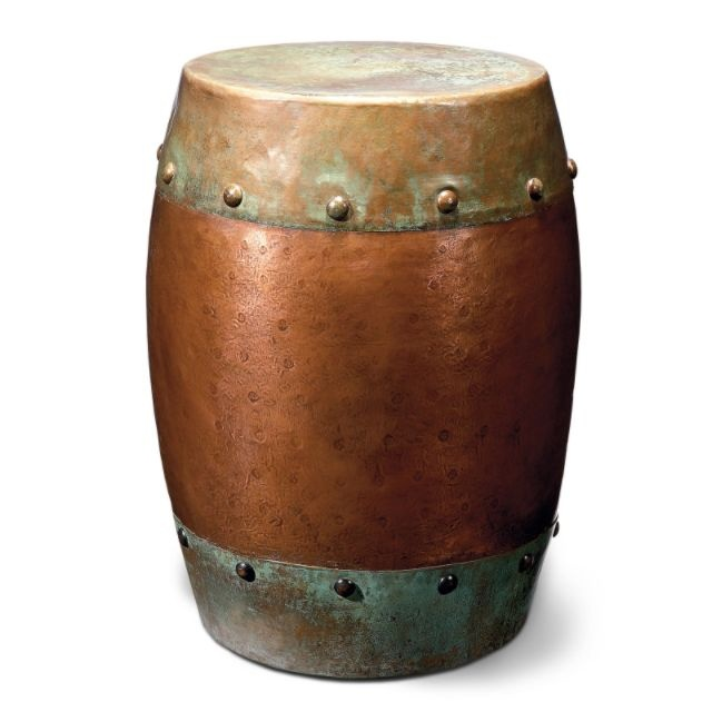 Copper Kettle Drum Coffee Table: Metal Drum Table