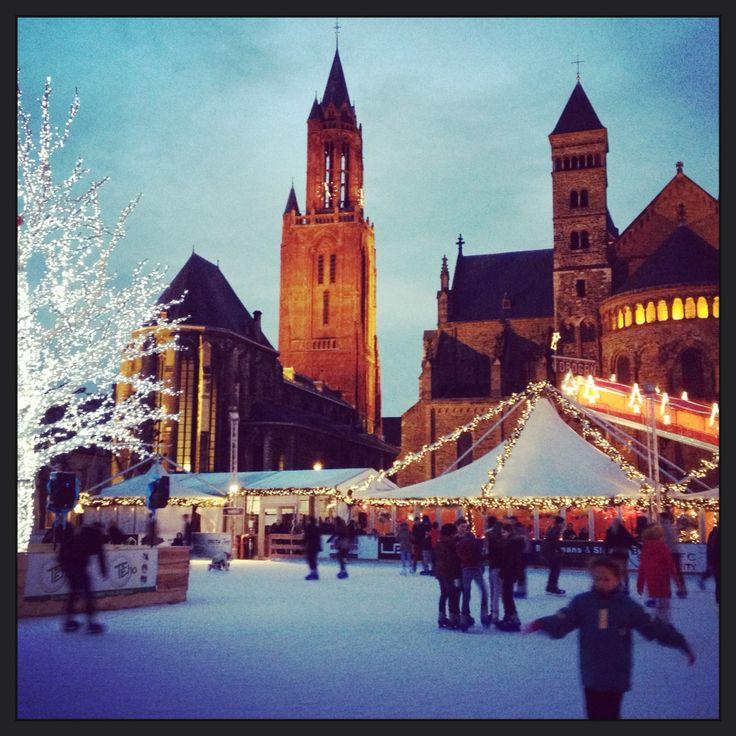 Maastricht, Vrijthof in winter