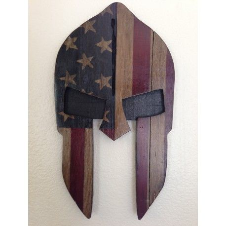 Spartan Mask with Flag