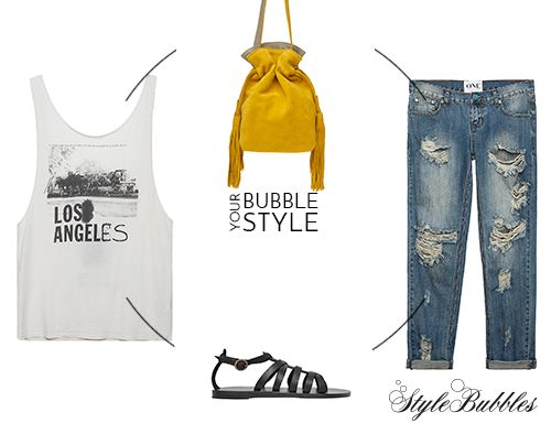 "Bubble Your Autumn Style with items on SALE! OneTeaspoon ripped denim, Park House ""Baby Box Bag"", Love Nail Tree tank top and Valia Gabriel sandals ""Black Cave"" style! #StyleBubbles #BubbleYourStyle #oneteaspoon #valiagabriel #fashion #onlineshopping"