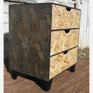 Dresser With Scoop Pulls Black now featured on Fab. [Furniture, Modular OSB]