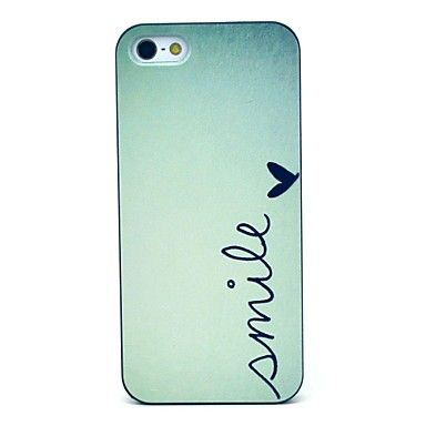 Smile Pattern Hard Case for iPhone 5/5S - USD $ 1.50