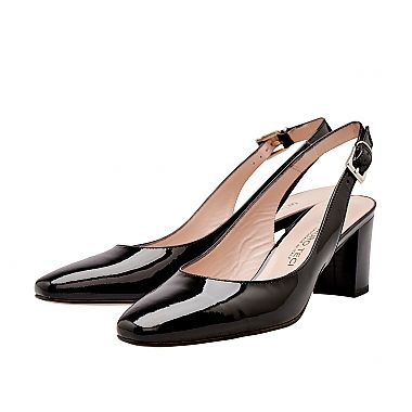 Mauro Teci Patent Slingback - The beautiful line of this hand crafted Italian slingback, offers a variation on your closed toe classic court for added style.  For our full collection visit http://www.louisemshoes.com. #louisemshoes