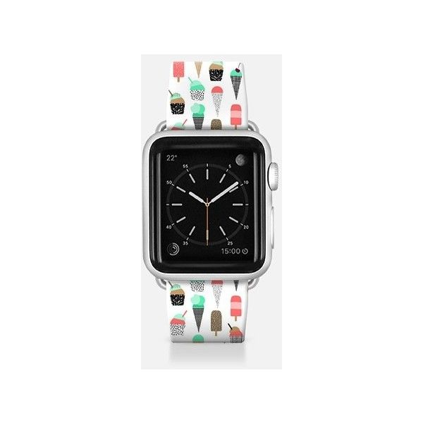 Apple Watch Band - Apple watch band with ice cream cones hipster... ($49) ❤ liked on Polyvore featuring jewelry, watches, apple watch band, hipster watches and hipster jewelry