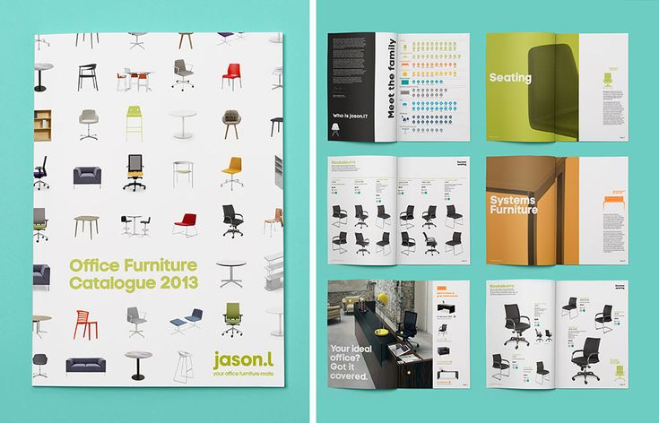 Catalogue for JasonL, an office furniture retailer. ~Re: | #branding #identitydesign