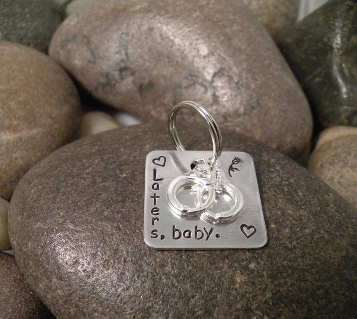 Fifty Shades of Grey Hand Stamped Key Chain by SayWhatCreations, $16.00