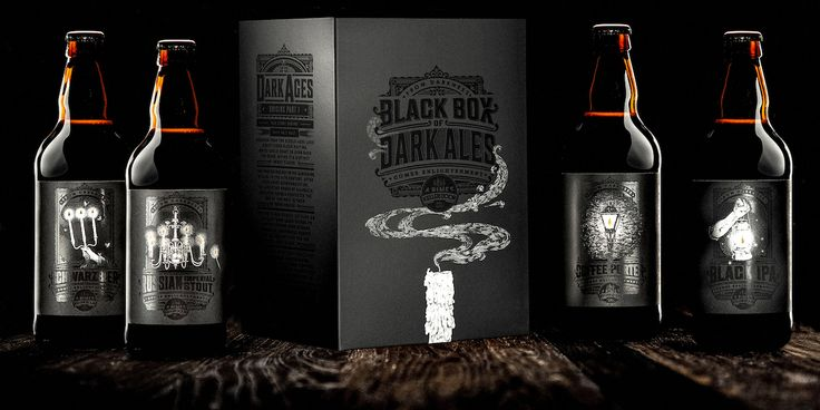 A dark ale that tells a dark tale. The A Team designed the clever packaging for this beer that uses spot ...