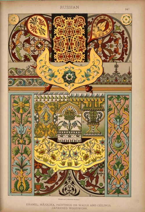 Russian decoration: various.