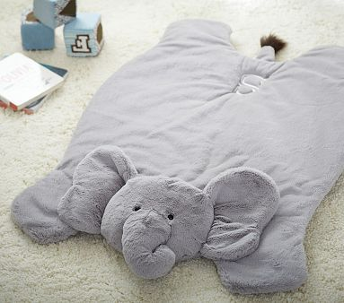 Elephant Plush Play Mat #pbkids, can be monogrammed as well, in almost up any color depending on gender