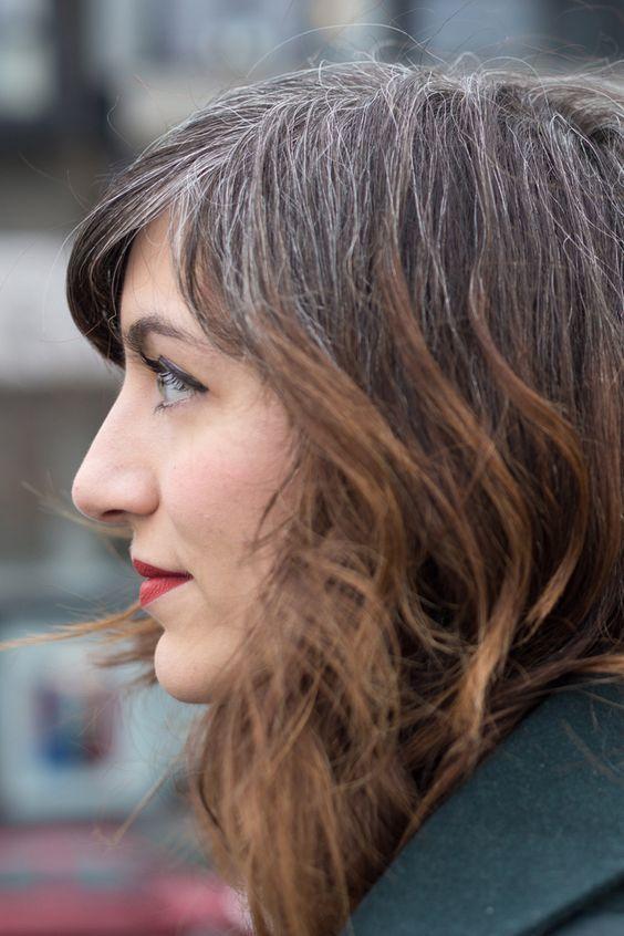 Les 10 meilleures idées de la catégorie Cheveux poivre et sel sur Pinterest   Grisaillement ...