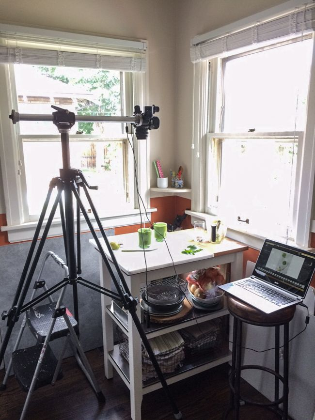 Camera Equipment for Food Bloggers   in process photo setup for food photography   Edible Perspective